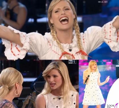 Michelle Hunziker ti Lascio Una Canzone abito Blugirl look svizzero