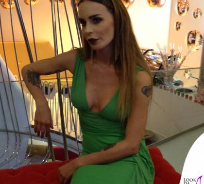 Nina Moric abito Versace Patricia Contreras for Joshua Fenu Milano Fashion Week 2