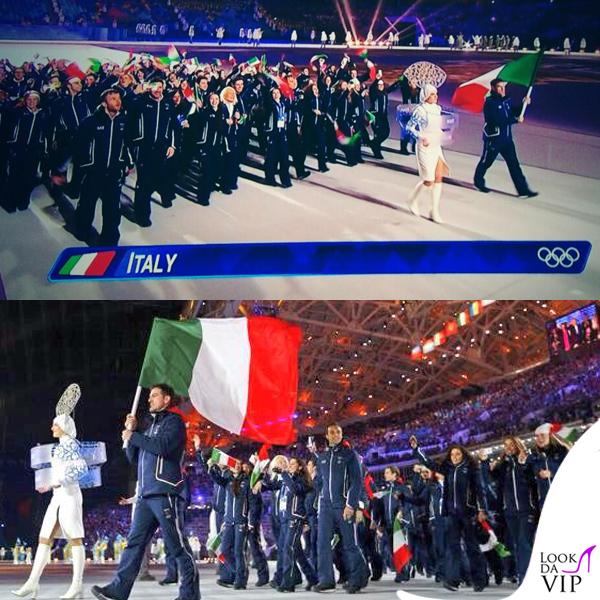 Olimpiadi Invernali Sochi delegazione Italia divise EA7 Armani