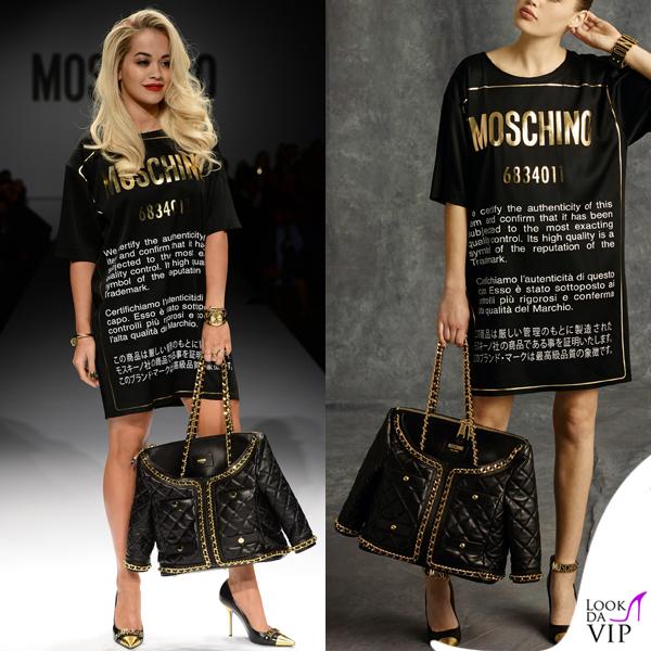 Rita Ora Moschino pre fall 2014 Milano Fashion Week