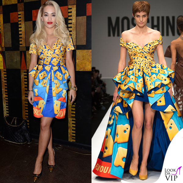 release date: c4364 ae7f7 Rita Ora abito Moschino Milano Fashion Week - Look da Vip