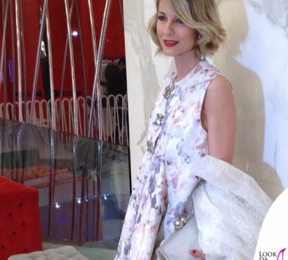 Roberta Ruiu Presentazione Joshua Fenu Milano Fashion Week abito Francesco Scognamiglio