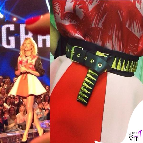 Alessia Marcuzzi GF13 Fausto Puglisi scarpe Zanotti gioielli Rossella Catapano