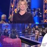 Alessia Marcuzzi GF13 abito Fausto Puglisi scarpe Casadei gioielli MVP Creations 2