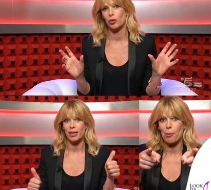 Alessia Marcuzzi Grande Fratello 13 quarta puntata total Yves Saint Laurent 2