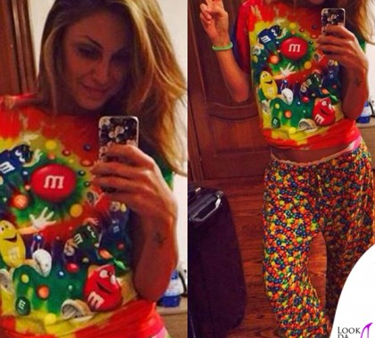 Anna Tatangelo pigiama M&M'S