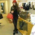Cristina De Pin chiodo e stivali Mia Bag cappello Borsalino borsa Sicily Dolce&Gabbana 5