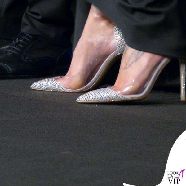 Federica Pellegrini theMicam camicia Armani gonna Dsquared2 scarpe clutch Le Silla 3