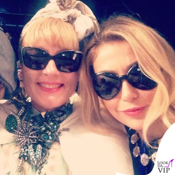 Francesca Senette sfilata John Richmond Milano Fashion Week abito Missoni 5