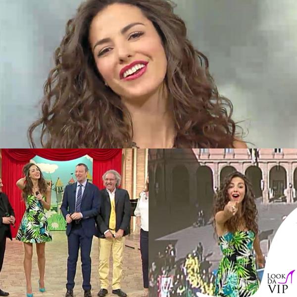 Laura Barriales Mezzogiorno in famiglia abito Silvian Heach anello collana Mediterraneo 2
