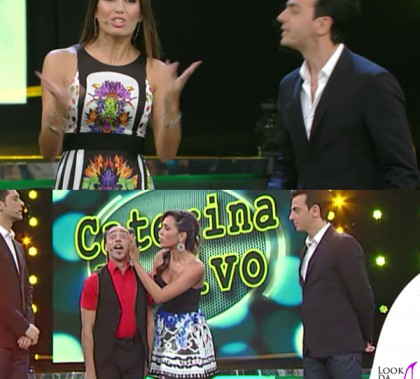 Made In Sud Elisabetta Gregoraci abito Just Cavalli Caterina Balivo gonna Pinko