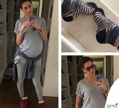 Melissa Satta leggings American Apparel sneakers Isabel Marant bracciale Hermes calze Bugie by Coccoli