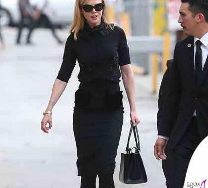 Nicole Kidman Jimmy Kimmel Live borsa Salvatore Ferragamo