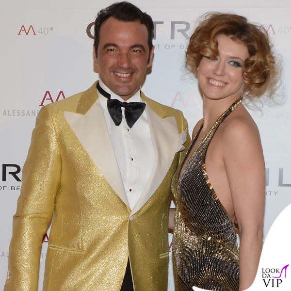 Oscar Party Alessandro Martorana 40 Compleanno Alessandro Martorana Elena Barolo abito Ralph Laurent