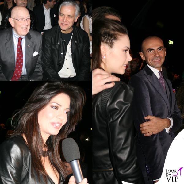 Roberto Formigoni Mario Boselli Laura torrisi Enzo Miccio sfilata John Richmond Milano Fashion Week