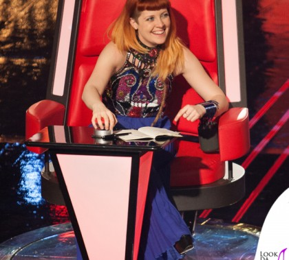 The Voice of Italy Noemi top Patrizia Peluso gonna Parosh