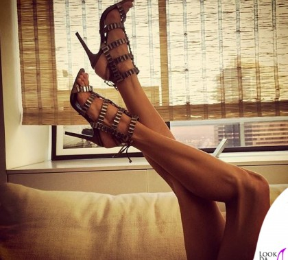 Alessandra Ambrosio sandali Schutz Paloma