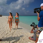 Alessia Reato costume Yamamay fascia Dunes slip Pixel mix Alessia Ventura bikini Yamamai celeste