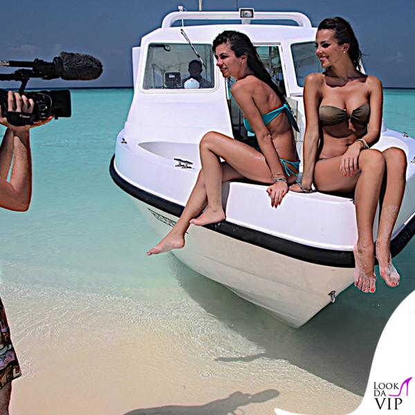 Alessia Reato costume Yamamay fascia Dunes slip Pixel mix Alessia Ventura bikini Yamamai celeste 2