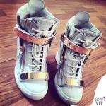 Fanny Neguesha scarpe Giuseppe Zanotti