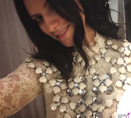 Laura Pausini abito collier H&M
