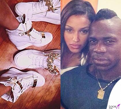 Mario Balotelli Fanny Neguesha scarpe Giuseppe Zanotti