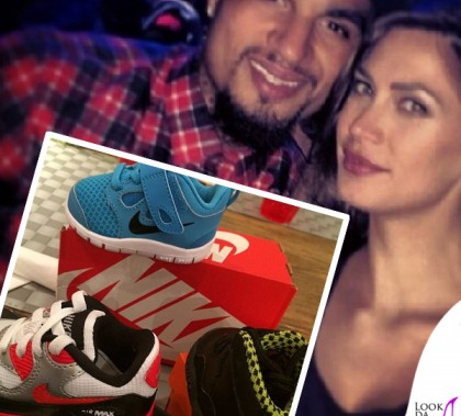 Melissa Satta scarpine baby Nike