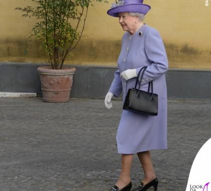 Regina Elisabetta abito cappotto Stewart Parvin cappello Rachel Trevor-Morgan