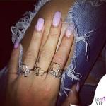 Rihanna anelli Christian Dior
