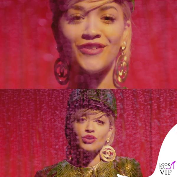 Rita Ora I Will Never Let You Down orecchini Chanel 2