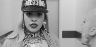 Rita Ora I Will Never Let You Down total Moschino
