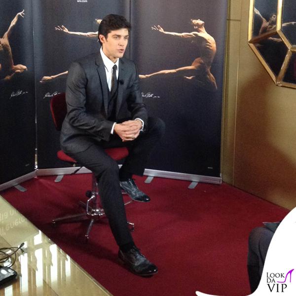 Roberto Bolle presentazione spot Eni total Dolce & Gabbana 2