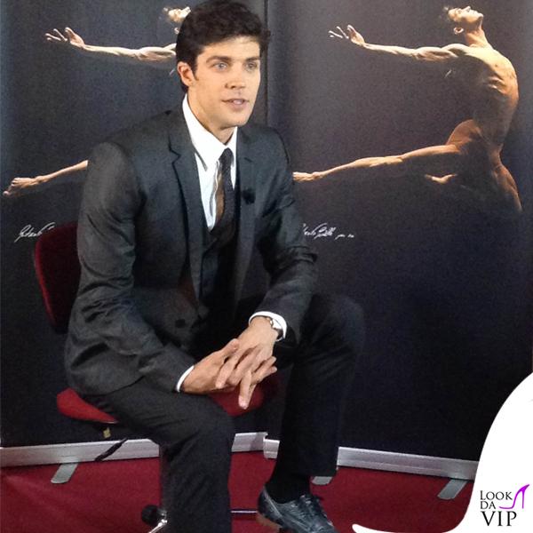 Roberto Bolle presentazione spot Eni total Dolce & Gabbana