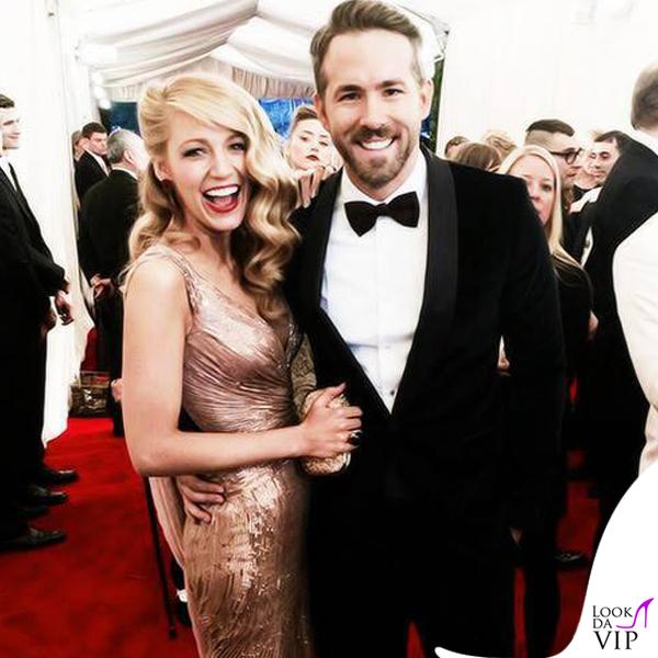 Blake Lively Ryan Reynolds Met Gala 2014 abito Gucci Première