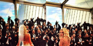 Cannes Film Festival 2014 Valeria Marini abito Carlo Pignatelli