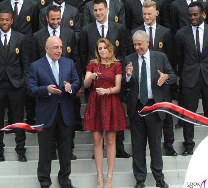 Casa Milan Barbara Berlusconi abito Valentino 5