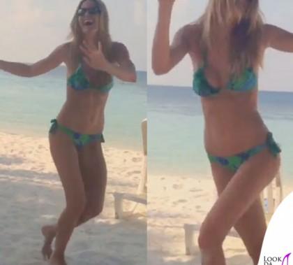 Elena Santarelli bikini Flavia Padovan 2
