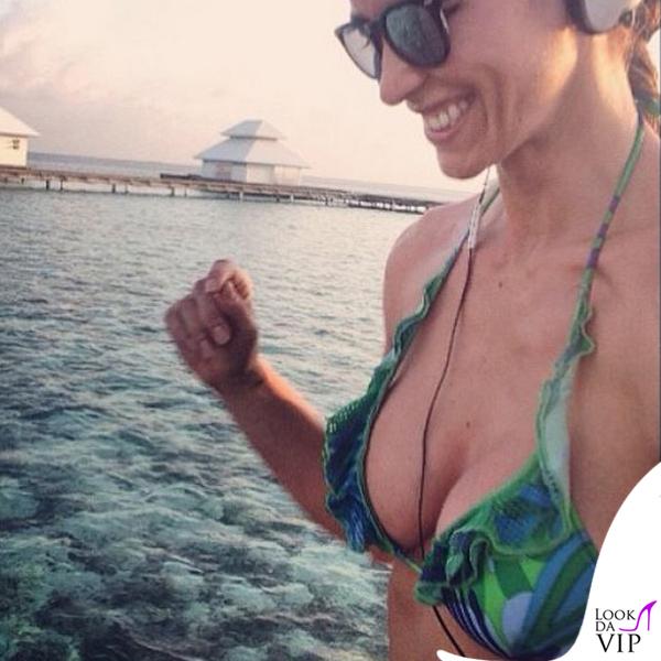 Elena Santarelli bikini Flavia Padovan