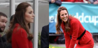 Kate Middleton completo Luisa Spagnoli clutch Mulberry orologio Cartier orecchini Annoushka