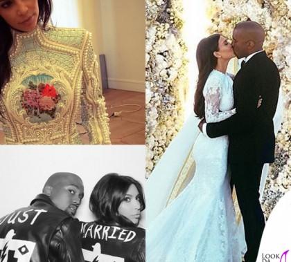 Kim Kardashian Kanye West matrimonio abiti Givenchy e Balmain