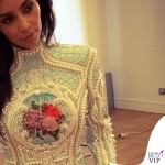 Kim Kardashian abito Balmain