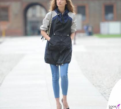 Margareth Madè parka e jeans Tommy Hilfiger