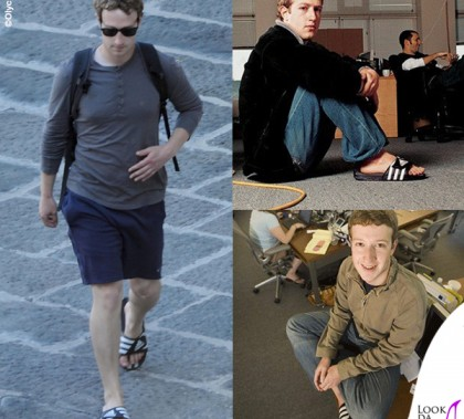 Mark Zuckerberg ciabatte Adidas