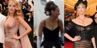 Met Gala 2014 Blake Lively abito Gucci Premiere Sarah Jessica Parker abito Oscar de la Renta Kate Upton total DolceGabbana
