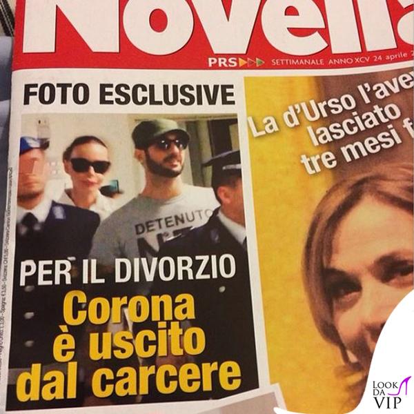 Novella2000 Fabrizio Corona tshirt Detenuto74