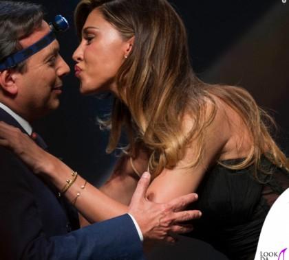 Piero Chiambretti Belen Rodriguez Gran Prix della Pubblicità abito Zuhair Murad scarpe Brian Atwood pochette Azzurra Gronchi