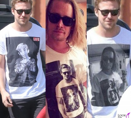 Ryan Gosling Macaulay Culkin tshirt Worn By