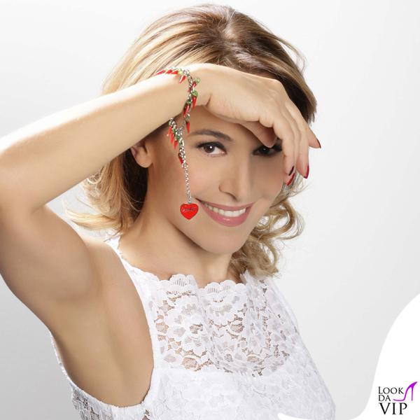 Barbara D'Urso braccialetto Carmelita