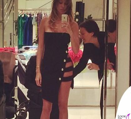 Belen Rodriguez abito Anthony Vaccarello