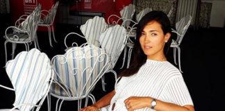 Caterina Balivo abito Trussardi ballerine Roger Vivier borsa Goyard